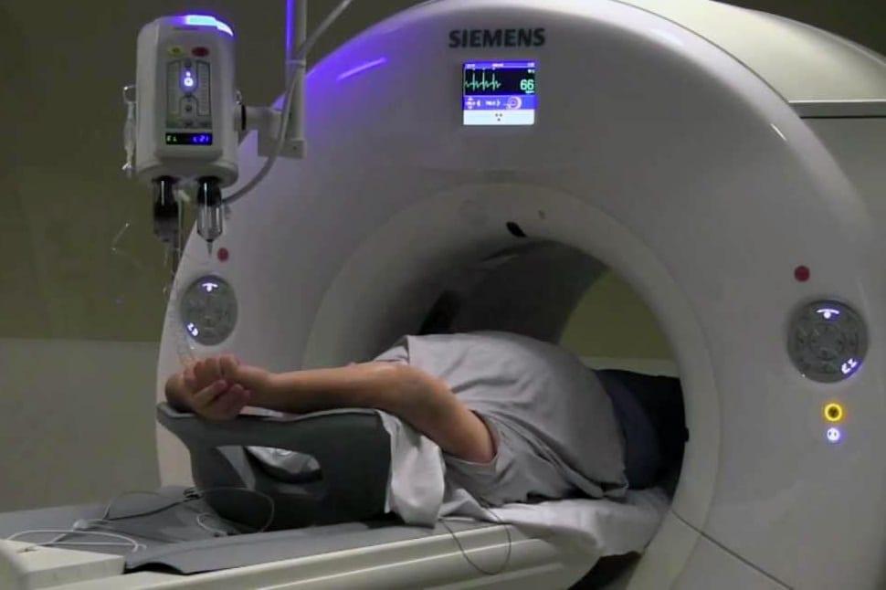Coronary CT angio procedure photo