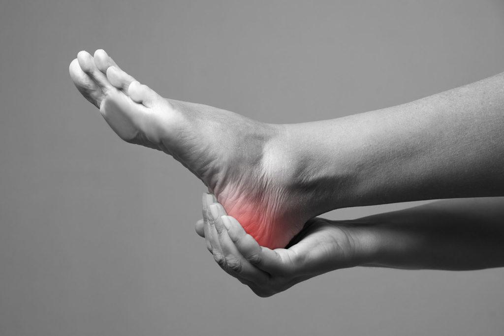 patient suffering from neuropathic pain in heel